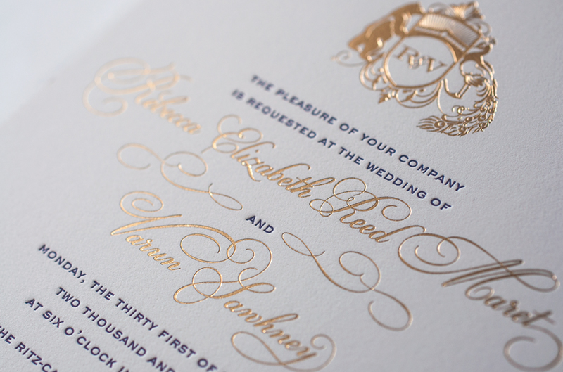 Lasercut And Gold Foil Wedding Invitations By Atelier Isabey Via Oh So Beautiful Paper 4