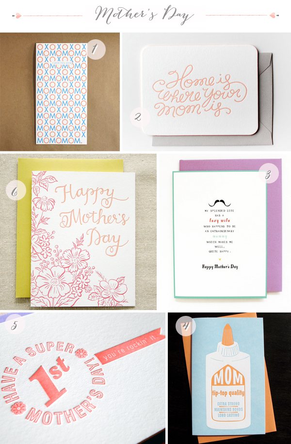 1x1.trans Seasonal Stationery: Mothers Day Cards