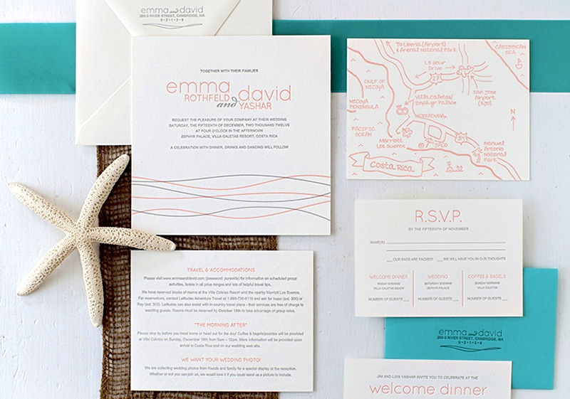 Beach Inspired Destination Wedding Invitations By Inkprint Letterpress Via Oh So Beautiful Paper 9