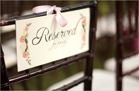 Wedding Stationery Inspiration Reserved Signs