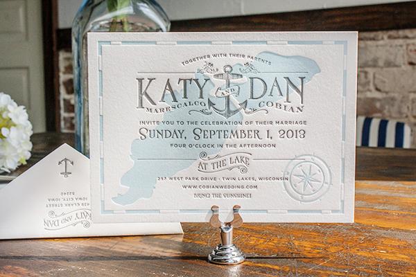 Katy Dan S Lakeside Wisconsin Wedding Invitations