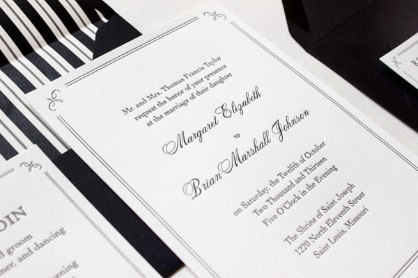 Brian S Elegant Formal Wedding Invitations