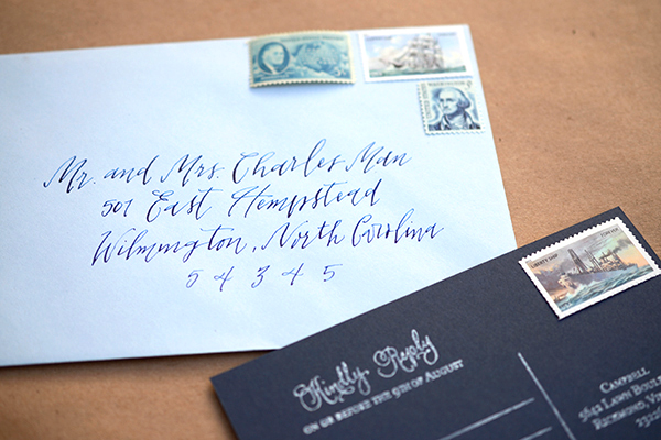 Beautiful Artbyellie Calligraphy Style Addressing Modern Tucker At Wedding Invitations