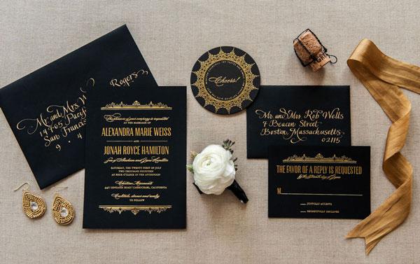 Quick Pick Aerialist Press Foiled Wedding Invitations