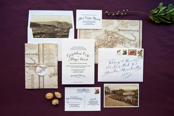 Elegant Gold Foil Wedding Invitations