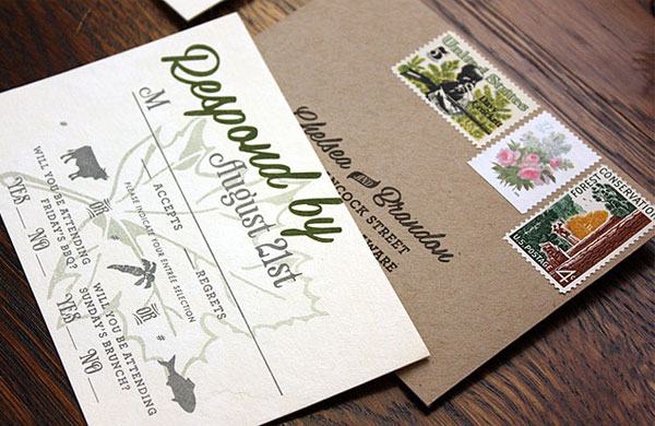 Rustic Vermont Wedding Invitations Paisley Quill3