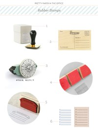 Pretty Paper in the Office: Rubber Stamps