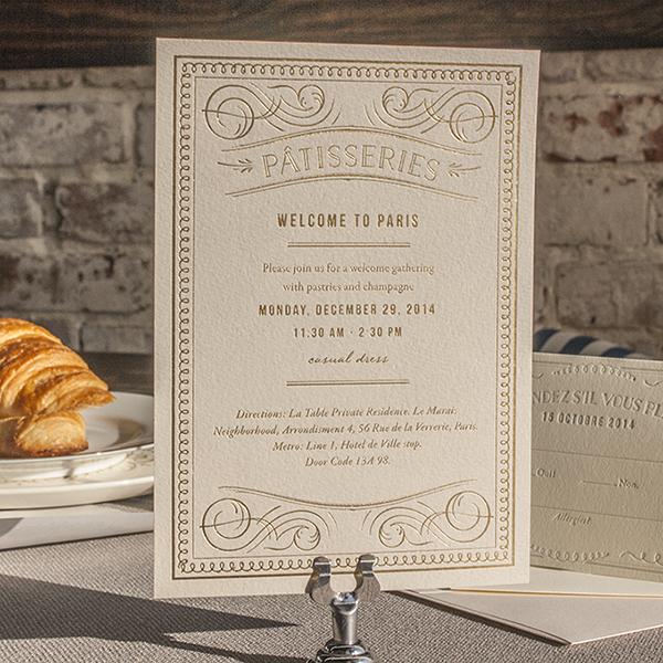 French Toile Inspired Table Setting Elegant Calligraphy Wedding Invitation