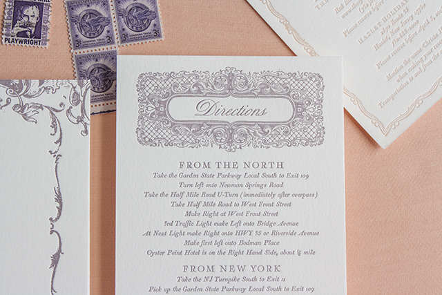 Lucky Luxe Couture Correspondence Marie Antoite Wedding Invitation