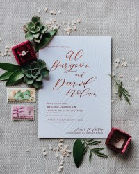 Cactus And Calligraphy Wedding Invitations