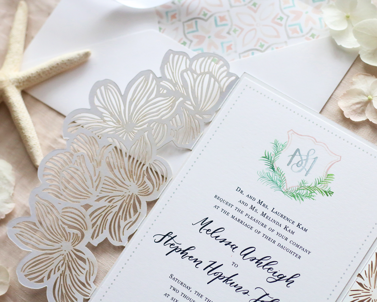 Cabo San Lucas Lasercut Destination Wedding Invitations