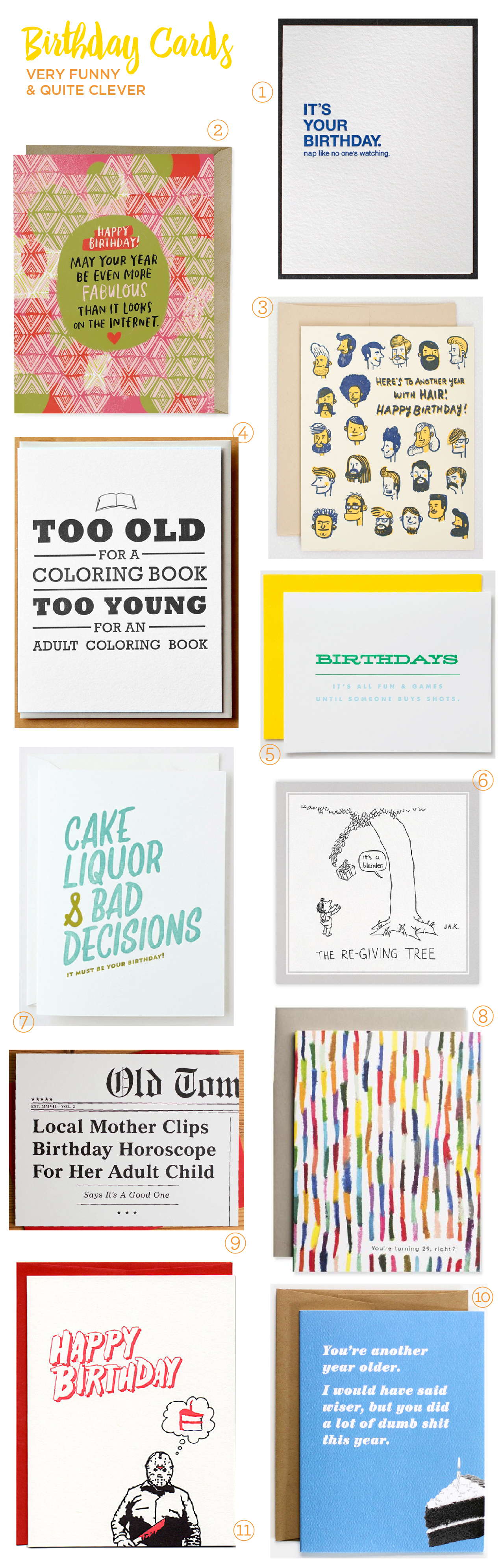 Stationery A Z Clever And Funny Birthday Cards