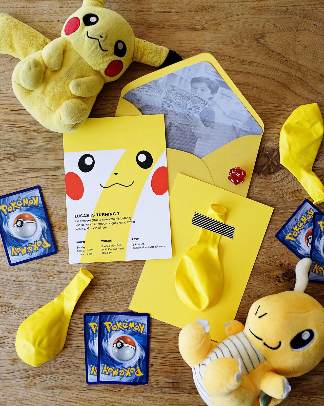 lucas s pokemon birthday party invitations