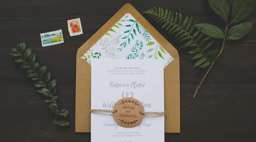 Ilrated Honeyle Vine Wedding Invitations By Wide Eyes Paper Co
