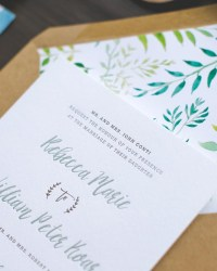 illustrated honeysuckle vine wedding invitations - Paper For Wedding Invitations