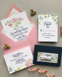 Wedding invitation ideas oh so beautiful paper bright and cheerful floral watercolor wedding invitations junglespirit Gallery