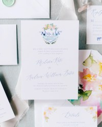 Wedding invitation ideas oh so beautiful paper colorful watercolor crest wedding invitations junglespirit Images