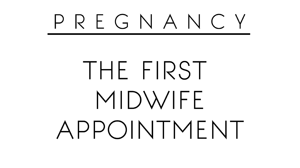 First midwife appointment 21/09/15