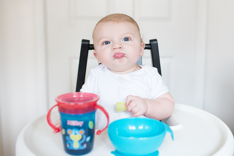 baby boy weaning with nuby products
