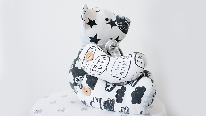monochrome keepsake bear