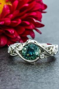 24 Gorgeous Colored Engagement Rings | Oh So Perfect Proposal