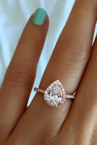 24 Stunning Pear Shaped Engagement Rings | Oh So Perfect ...