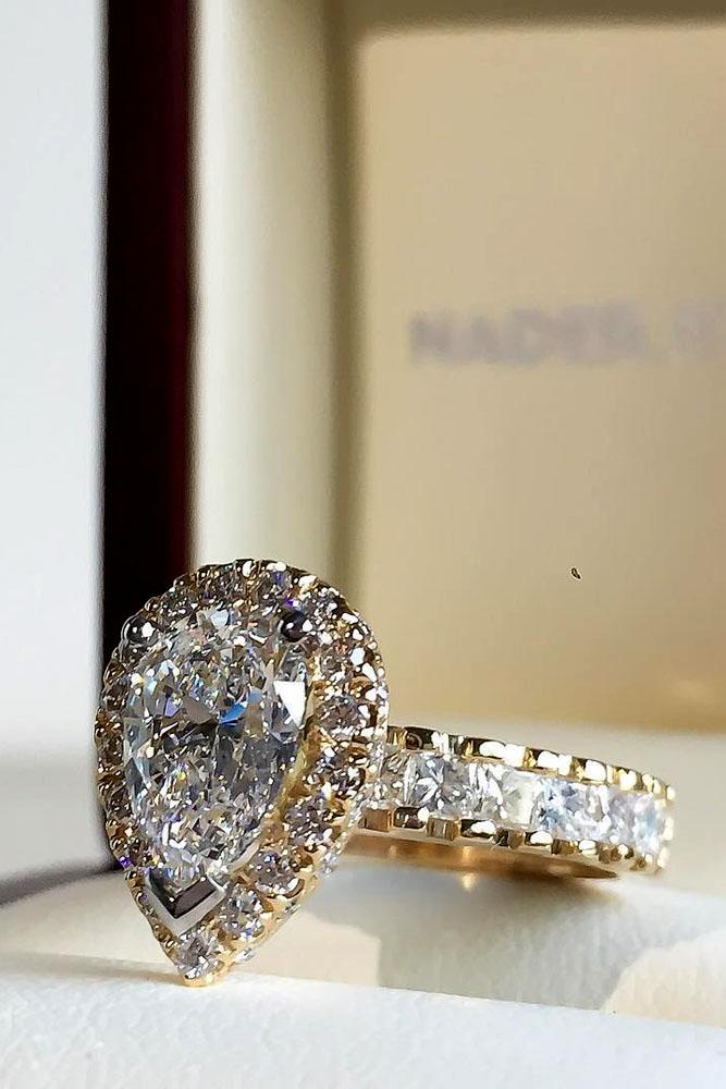 Pear Shaped Wedding Ring