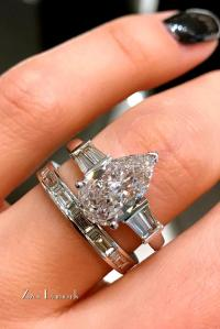 Pear Shaped Wedding Ring Sets - staruptalent.com