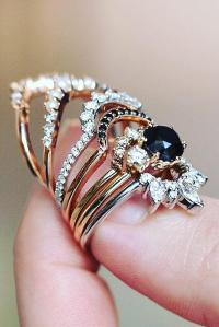 45 Unique Black Diamond Engagement Rings | Oh So Perfect ...