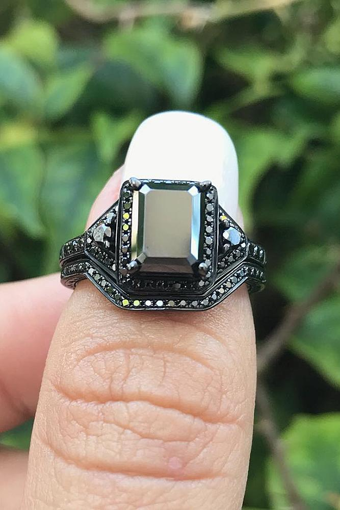 24 Unique Black Diamond Engagement Rings  Oh So Perfect Proposal