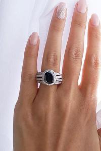 36 Unique Black Diamond Engagement Rings | Oh So Perfect ...