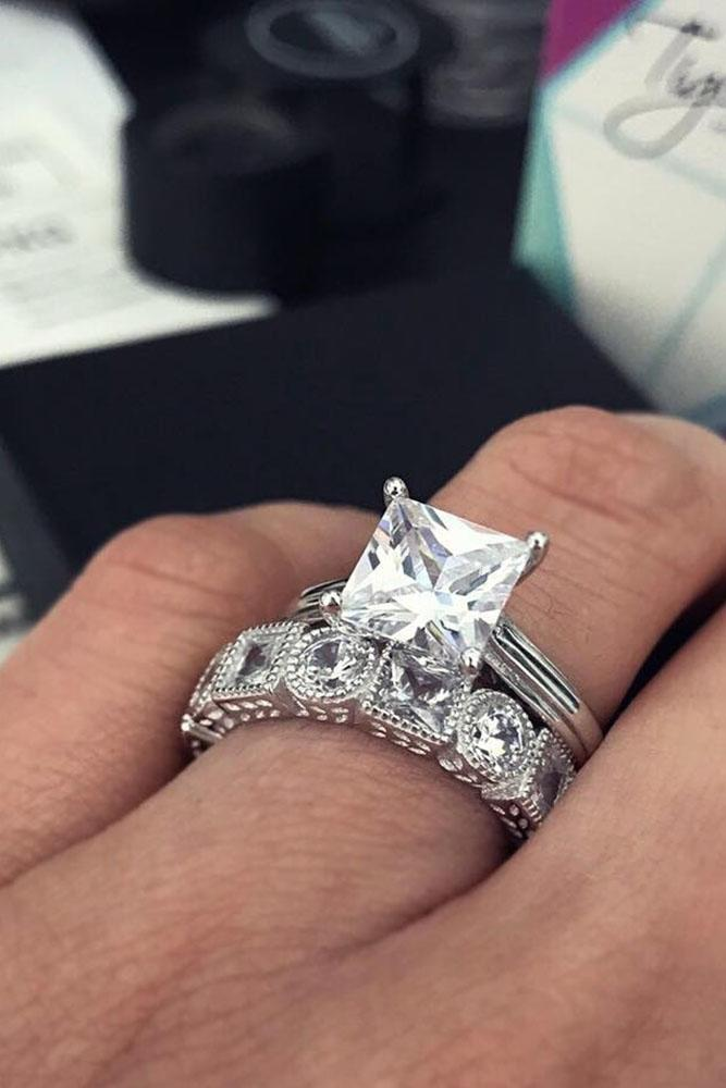 36 White Gold Engagement Rings To Conquer Your Love