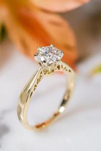42 The Best Yellow Gold Engagement Rings From Pinterest
