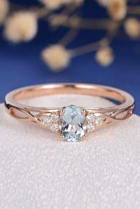 27 Aquamarine Engagement Rings For Romantic Girls | Oh So ...