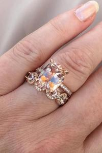 Morganite Wedding Rings
