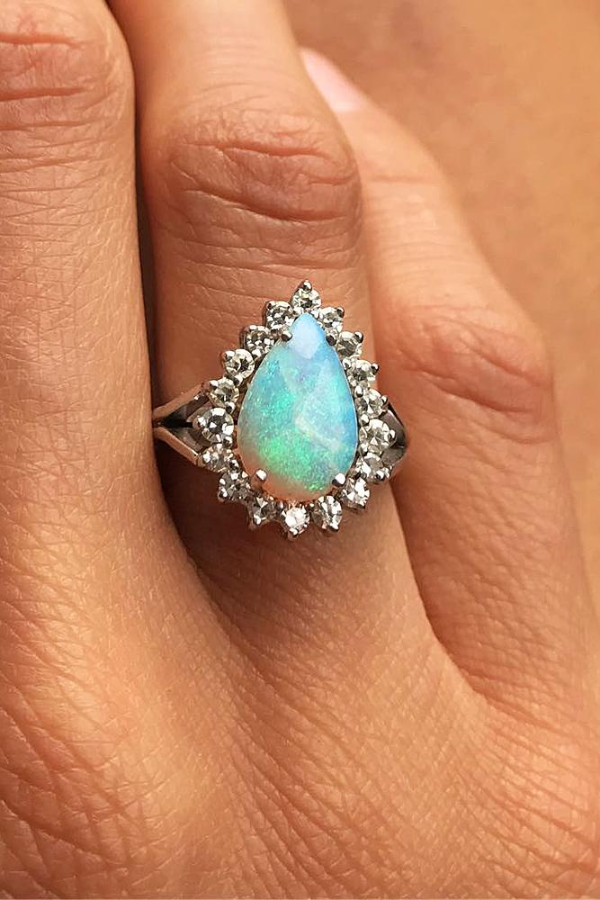 30 Opal Engagement Rings For The Modern Brides  Oh So Perfect Proposal