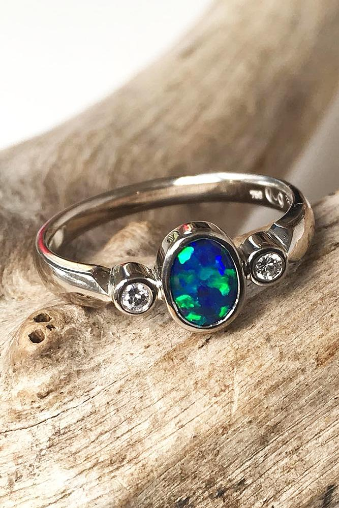 Opal Engagement Rings For The Modern Brides Oh So