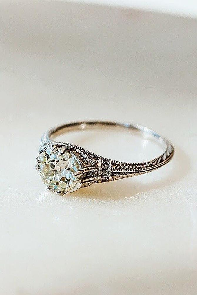 floral inspired engagement rings