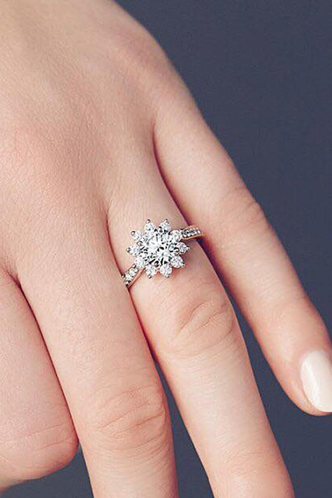 24 The Most Inspiring Halo Engagement Rings  Oh So