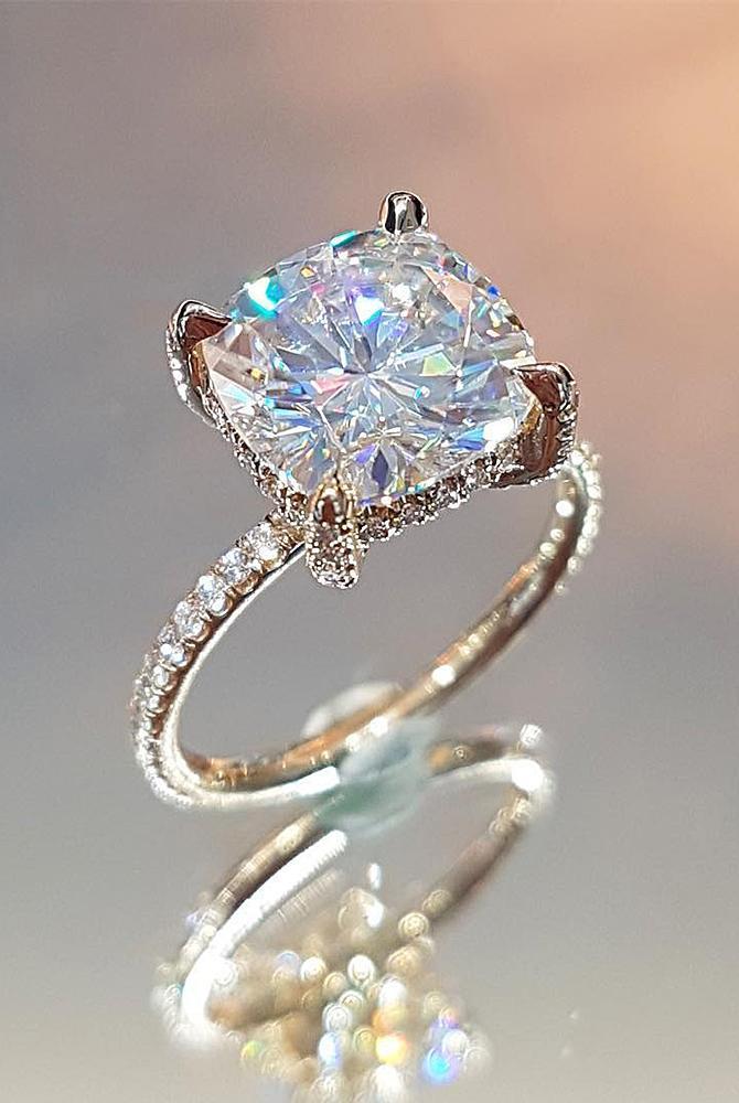 30 Moissanite Engagement Rings Fantastic Diamond Alternatives Oh So Perfect Proposal