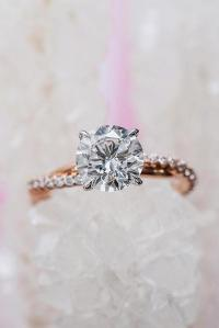 33 Rose Gold Solitaire Ring Ideas For Tender Girls | Oh So ...
