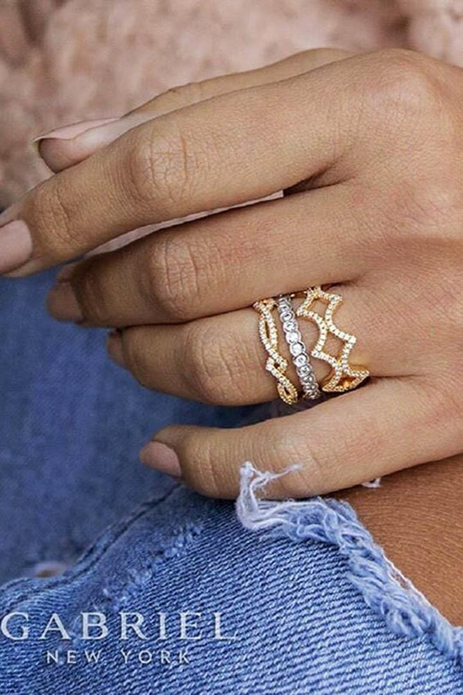 18 Best Stackable Wedding Rings Set More Rings More Shine