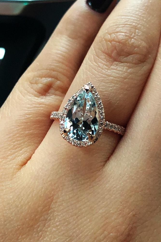 27 Aquamarine Engagement Rings For Romantic Girls  Oh So