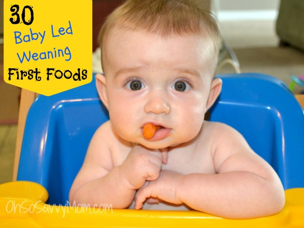 30 Baby Led Weaning First foods