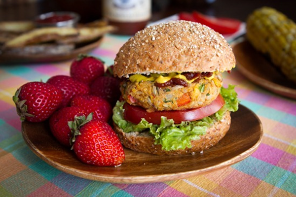 Chickpea Spicy Burger Recipe