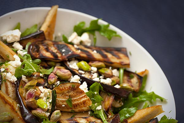Tofu Greek Salad with Char-grilled Vegetables
