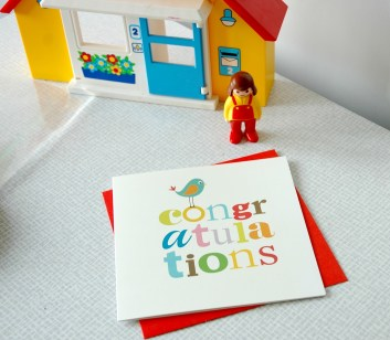 A colourful Congratulations Card