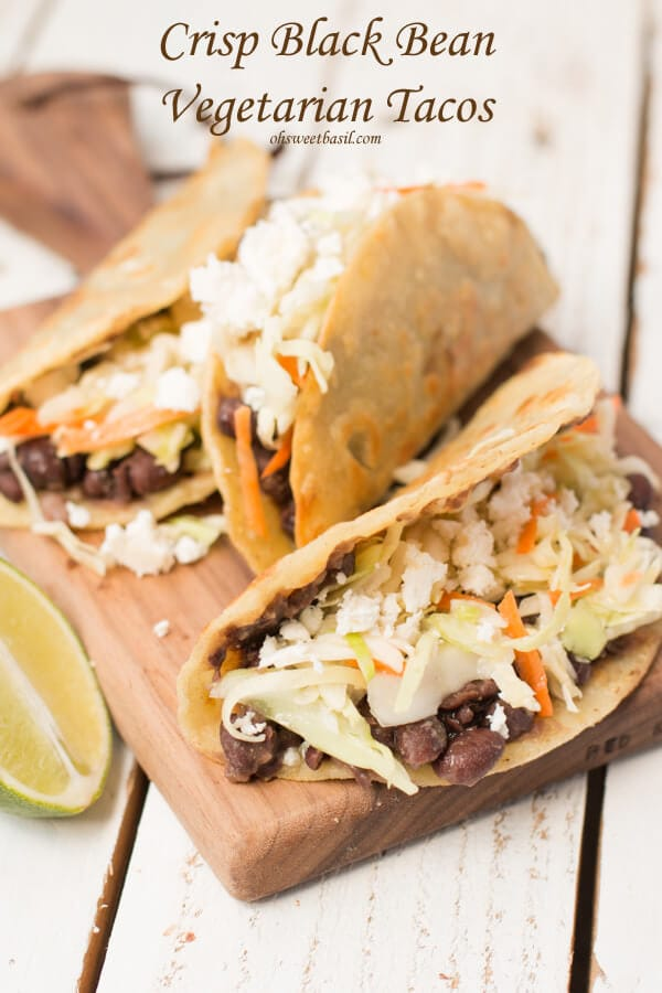 Everything I normally wouldn't love and yet these are one of our favorite tacos ever! #vegetarian #tacotuesday ohsweetbasil.com