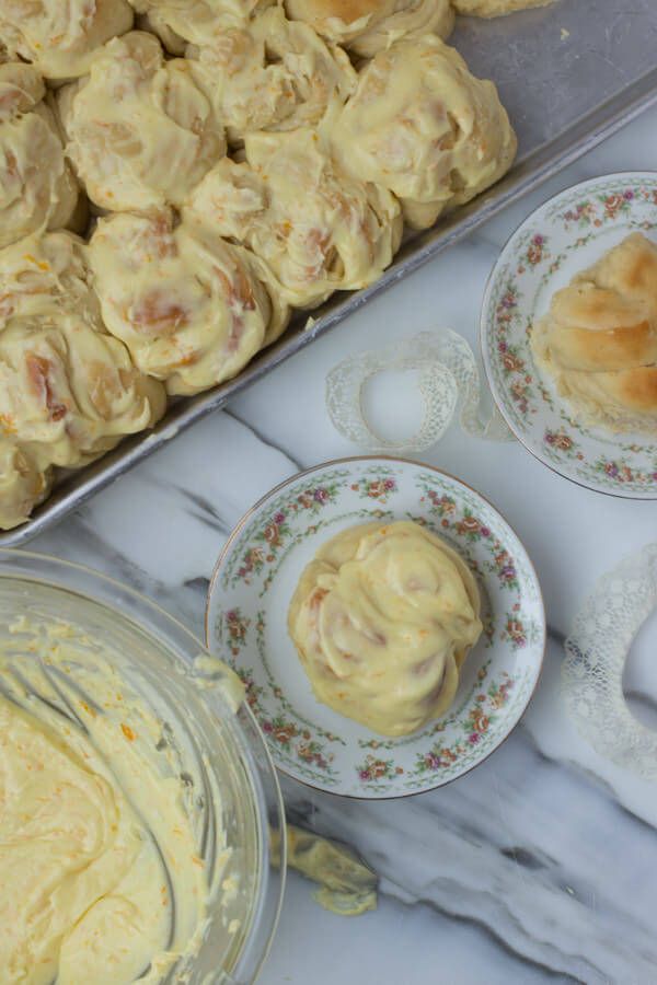 Made from our famous Potato #rolls these orange rolls are a sure bet for crowd pleasing deliciousness! ohsweetbasil.com