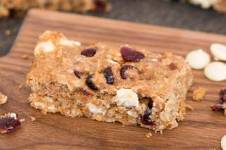White Chocolate Craisin Granola Bars